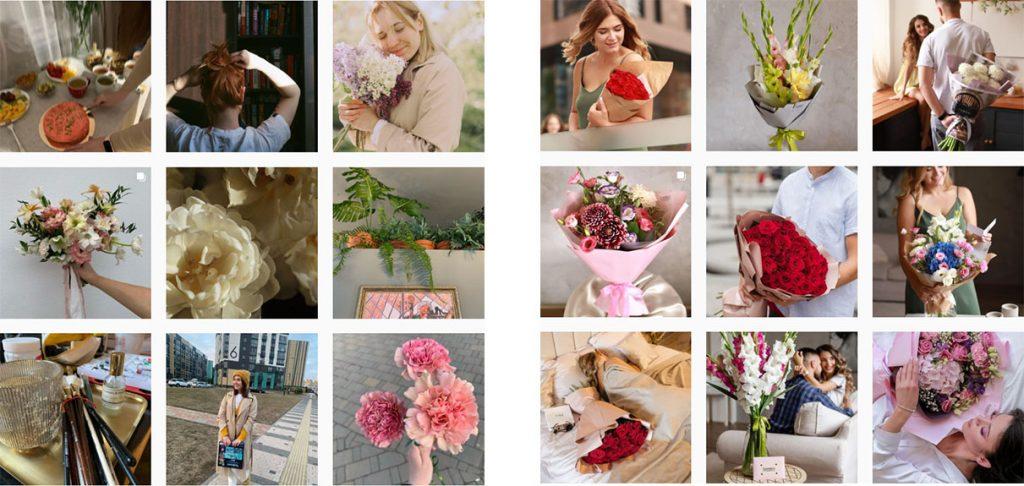 Оформление лайфстайл ленты флориста и цветочного магазина в Инстаграм