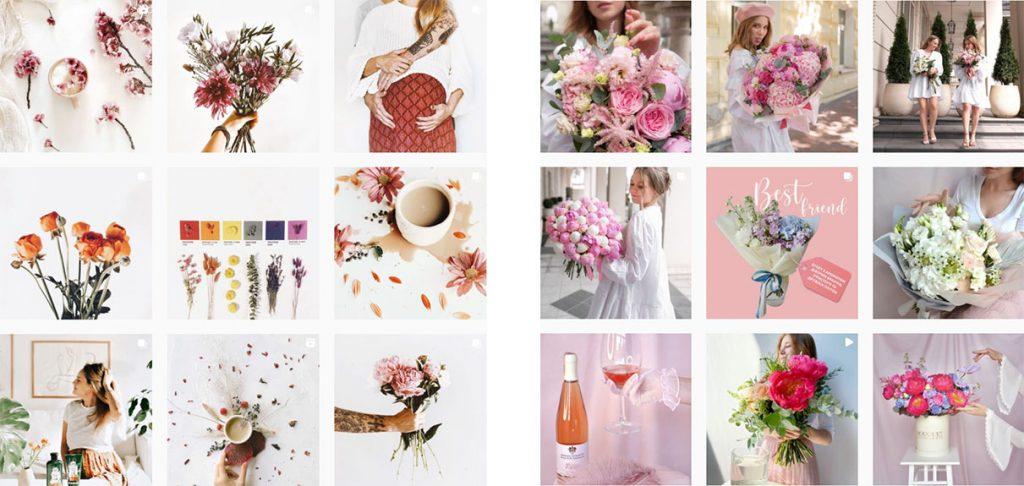 Оформление единой ленты флориста и цветочного магазина в Инстаграм