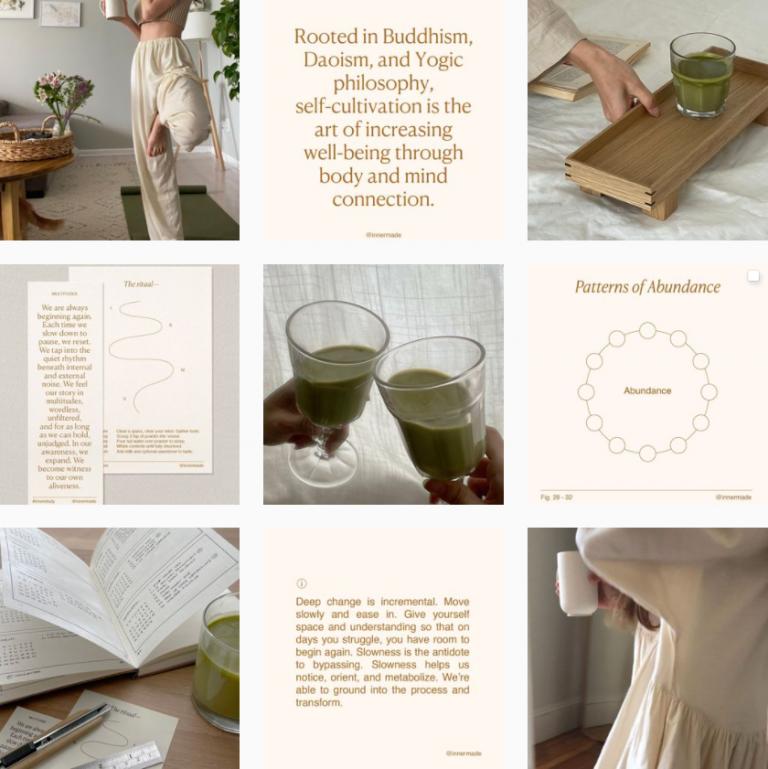 Визуал Инстаграм растительных напитков Innermade