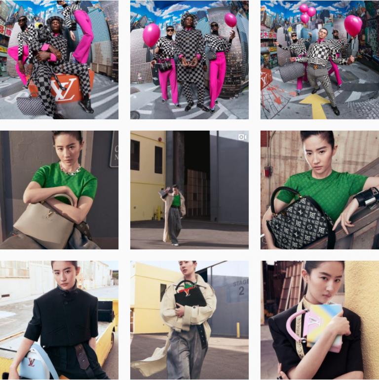 Визуал Инстаграм бренда одежды Louis Vuitton