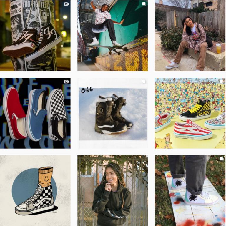 Визуал Инстаграм обуви Vans