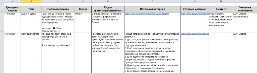 Как составить контент-план для постов в Инстаграм