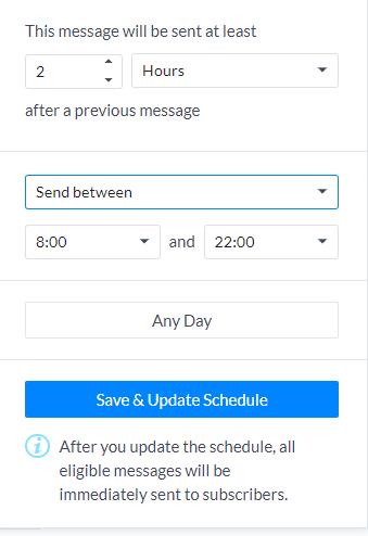 планирование рандомной отправки сообщений