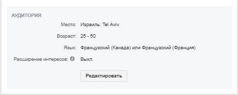 продвижение курсов английскогоТель-Авив facebook реклама