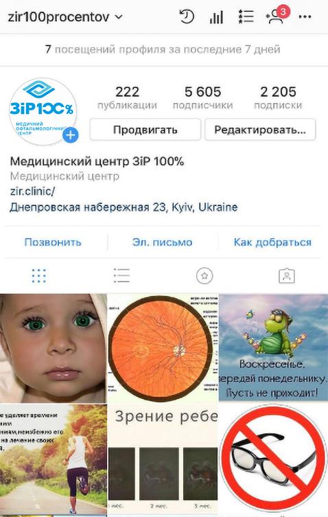 общая картина профиля Instagram кейс