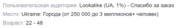 lookalike аудитория похожая на клиентов