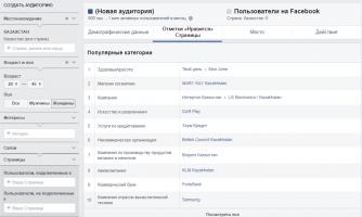 интересы аудитории фейсбук