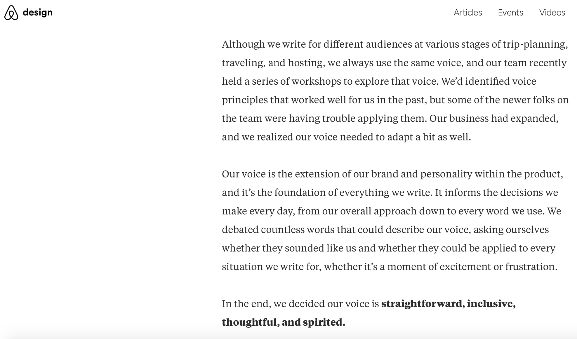 Airbnb tone of voice