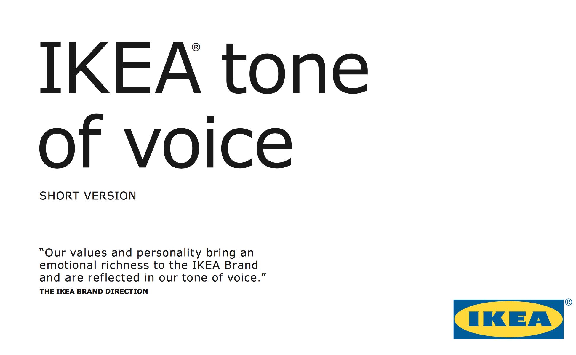 IKEA tone of voice