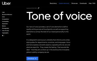 Uber Tone of voice