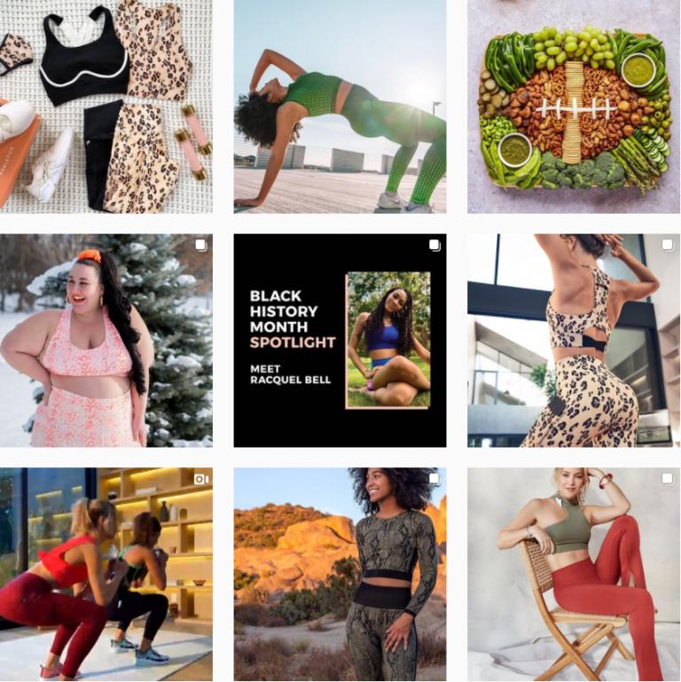 Лента Инстаграм женской спортивной одежды Fabletics