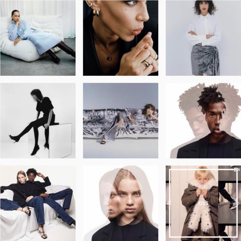 Лента Инстаграм бренда одежды Zara