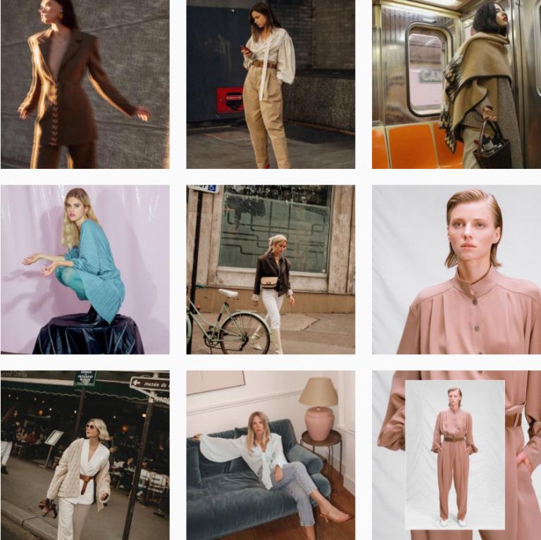 Красивая лента Инстаграм женской одежды Flow