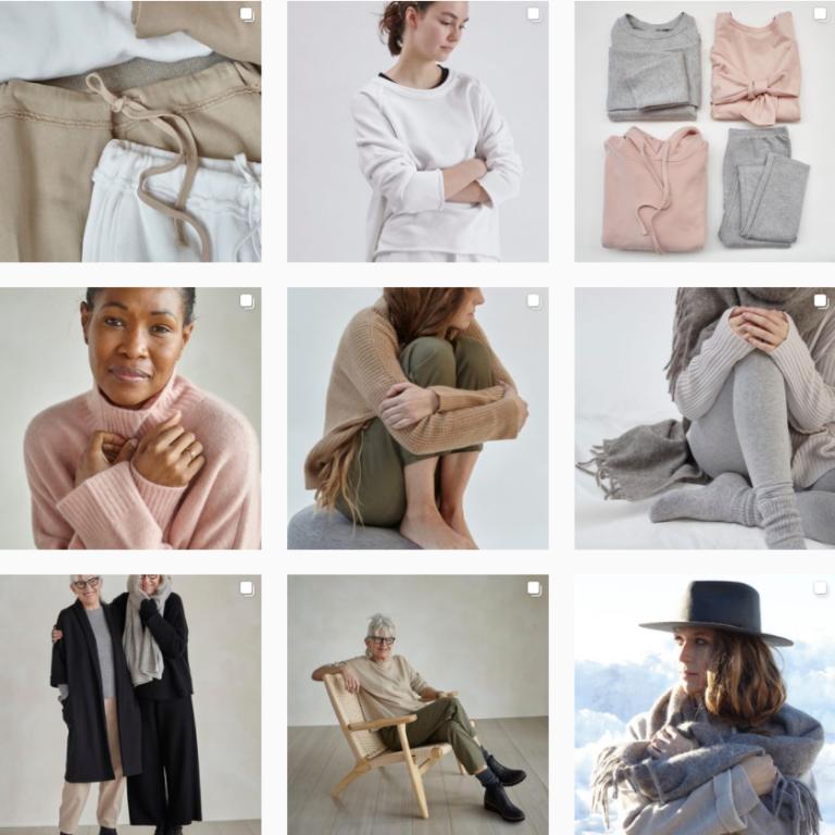 Красивая лента Инстаграм класической женской одежды Eileen fisher