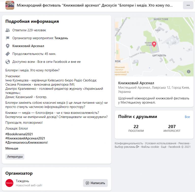 Продвижение СМИ в Фейбук с помощью мероприятия