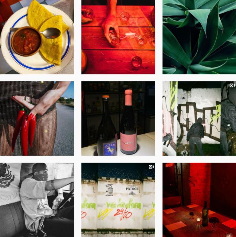 Красивый визуал ленты Инстаграм бара Veladora