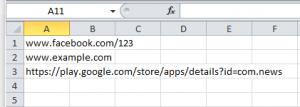 Excel список блокировок для таргетированной рекламы фейсбук