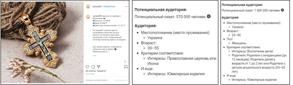 Продвижение православного ювелирного магазина в Instagram