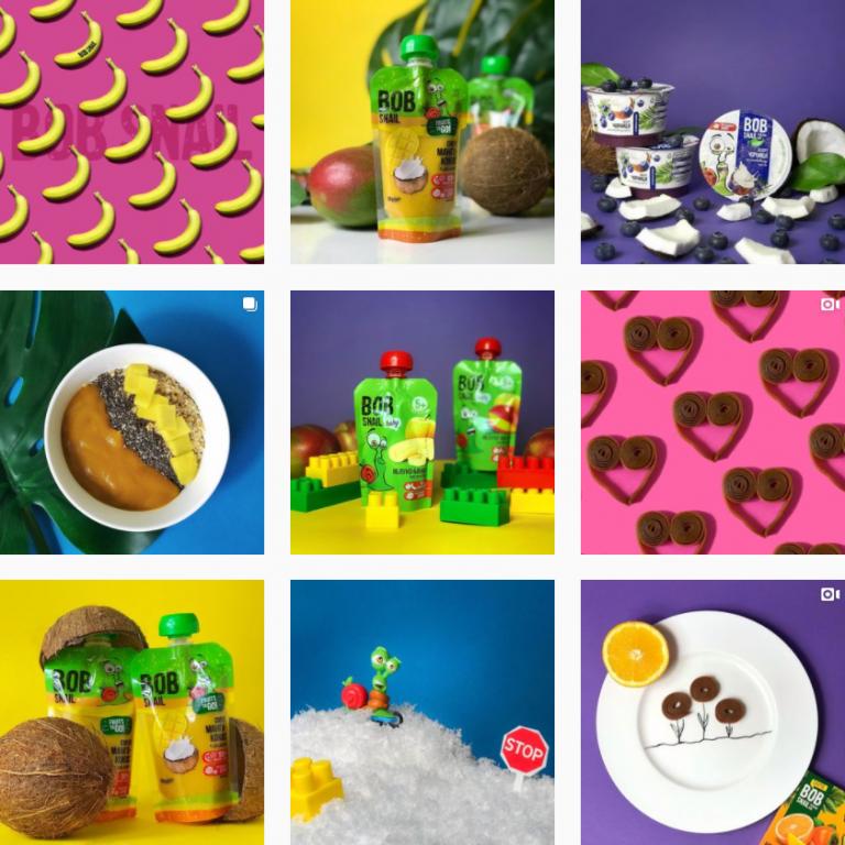 Визуал Инстаграм здоровых сладостей Bob snail