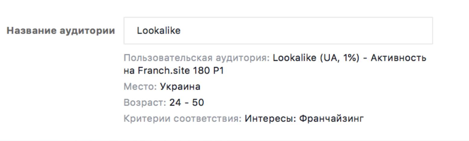 Lookalike franchise